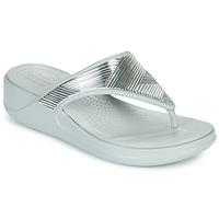 Schuhe Damen Zehensandalen Crocs CROCS MONTEREY METALLIC WGFPW Silbern