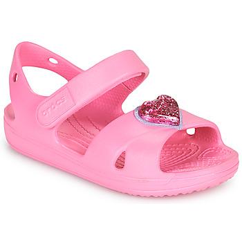 Schuhe Mädchen Sandalen / Sandaletten Crocs CLASSICCROSSSTRAPCHARMSANDAL T Rose