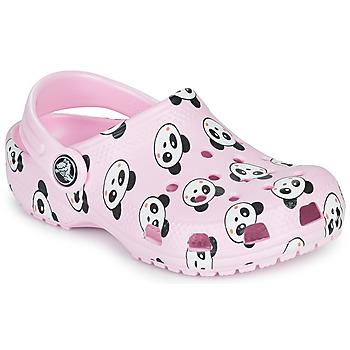 Schuhe Mädchen Pantoletten / Clogs Crocs CLASSIC PANDA PRINT CLOG K Rose