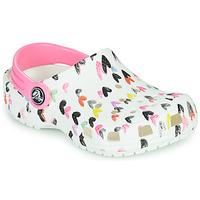 Schuhe Mädchen Pantoletten / Clogs Crocs CLASSIC HEART PRINT CLOG K Weiss / Herz