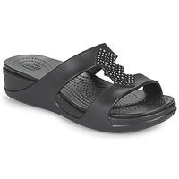 Schuhe Damen Pantoffel Crocs CROCSMONTEREYSHIMMERSLPONWDG W Schwarz