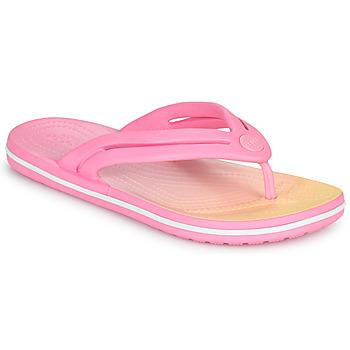 Schuhe Damen Zehensandalen Crocs CROCBAND OMBRE FLIP W Rose
