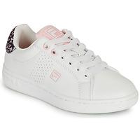 Schuhe Mädchen Sneaker Low Fila CROSSCOURT 2 NT KIDS Weiss / Rose