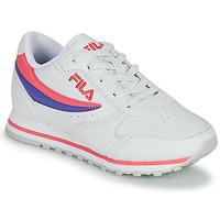Schuhe Mädchen Sneaker Low Fila ORBIT LOW KIDS Weiss / Rose