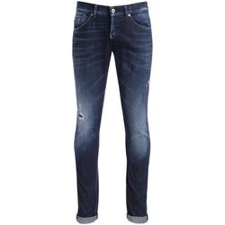 Kleidung Hosen Dondup Jeans George Blau mit Mikrorissen Blue