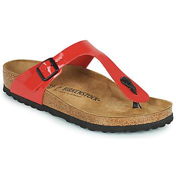 Schuhe Damen Zehensandalen Birkenstock GIZEH Rot