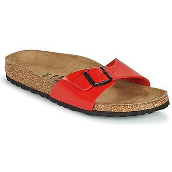 Schuhe Damen Pantoffel Birkenstock MADRID Rot