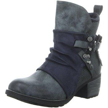 Schuhe Damen Low Boots Laufsteg München Stiefeletten HW200904 BLUE blau