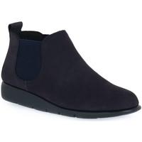 Schuhe Damen Boots Frau NABOUCK NAVY Blu