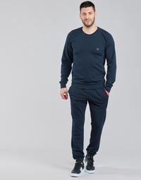 Kleidung Herren Jogginganzüge Emporio Armani STRETCH TERRY Marine