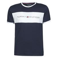 Kleidung Herren T-Shirts Tommy Hilfiger CN SS TEE LOGO FLAG Marine / Weiss