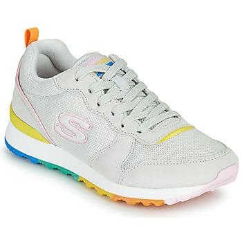 Schuhe Damen Sneaker Low Skechers OG 85 Weiss / Gelb