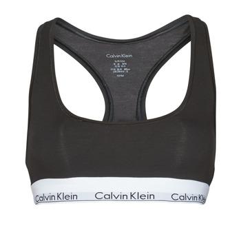 Unterwäsche Damen Sport-BH Calvin Klein Jeans MODERN COTTON UNLINED BRALETTE Schwarz