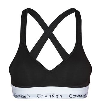 Unterwäsche Damen Sport-BH Calvin Klein Jeans MODERN COTTON BRALETTE LIFT Schwarz