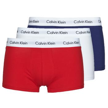 Unterwäsche Herren Boxer Calvin Klein Jeans RISE TRUNK X3 Marine / Weiss / Rot