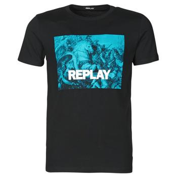 Kleidung Herren T-Shirts Replay M3412-2660 Schwarz / Blau