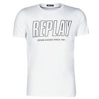 Kleidung Herren T-Shirts Replay M3395-2660 Weiss