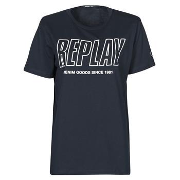 Kleidung Herren T-Shirts Replay M3395-2660 Marine