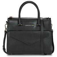 Taschen Damen Handtasche LANCASTER SAFFIANO SIGNATURE 10 Schwarz