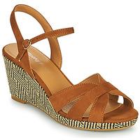 Schuhe Damen Sandalen / Sandaletten Moony Mood MALIA Camel