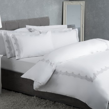 Home Bettbezug Belledorm Superking BM223 Grau