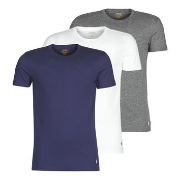 Kleidung Herren T-Shirts Polo Ralph Lauren SS CREW NECK X3 Marine / Grau / Weiss