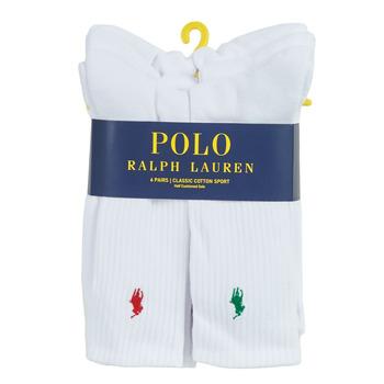 Accessoires Herren Socken & Strümpfe Polo Ralph Lauren ASX110 6 PACK COTTON Weiss