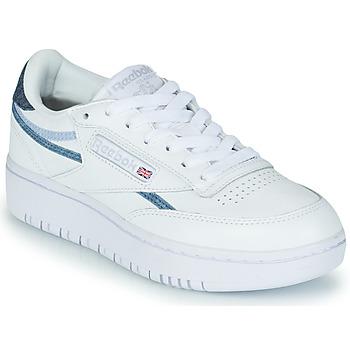 Schuhe Damen Sneaker Low Reebok Classic CLUB C DOUBLE Weiss / Blau