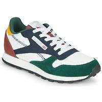 Schuhe Kinder Sneaker Low Reebok Classic CL LTHR Weiss / Grün / Blau