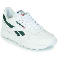 Schuhe Sneaker Low Reebok Classic CL LTHR Weiss / Grün