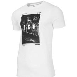 Kleidung Herren T-Shirts 4F TSM025 Weiß
