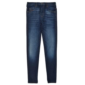 Kleidung Mädchen Röhrenjeans Diesel D-SLANDY HIGH Blau