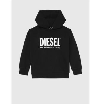 Kleidung Kinder Sweatshirts Diesel SDIVISION LOGO Schwarz