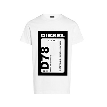 Kleidung Jungen T-Shirts Diesel TFULL78 Weiss