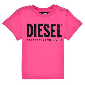 Kleidung Mädchen T-Shirts Diesel TJUSTLOGOB Rose