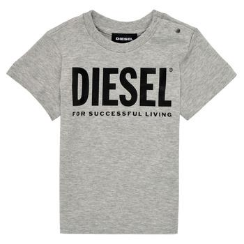 Kleidung Kinder T-Shirts Diesel TJUSTLOGOB Grau