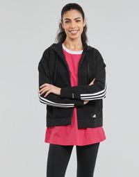Kleidung Damen Sweatshirts adidas Performance W Knit V Hoodie Schwarz