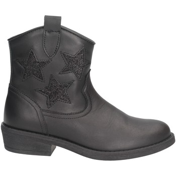 Schuhe Mädchen Boots Dianetti Made In Italy I9790B Texano Kind SCHWARZ SCHWARZ
