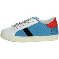 Schuhe Kinder Sneaker Low Date J301 Weiss/ Hellblau