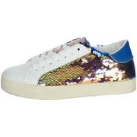 Schuhe Mädchen Sneaker Low Date J301 Weiss