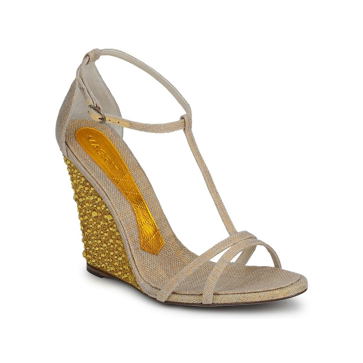 Magrit JOAQUINA Beige / Goldfarben - Kostenloser Versand bei Spartoode ! - Schuhe Sandalen / Sandaletten Damen 172,50 €