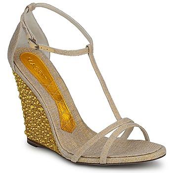 Schuhe Damen Sandalen / Sandaletten Magrit JOAQUINA Beige / Goldfarben