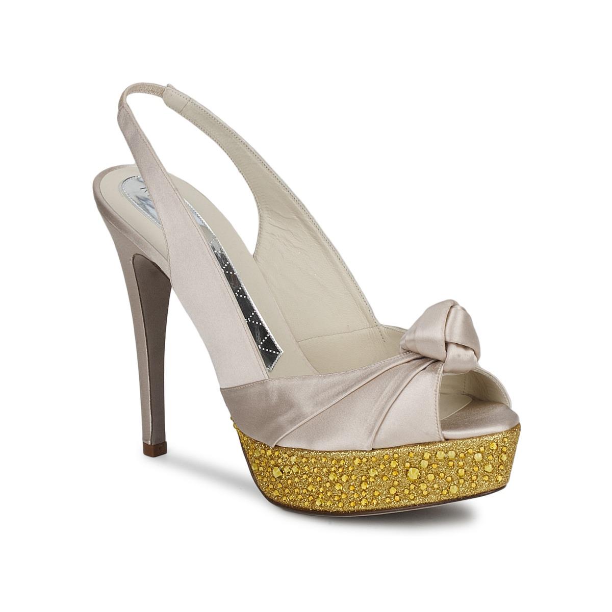 Magrit IMPERIALI Weiss / Goldfarben - Kostenloser Versand bei Spartoode ! - Schuhe Sandalen / Sandaletten Damen 154,50 €