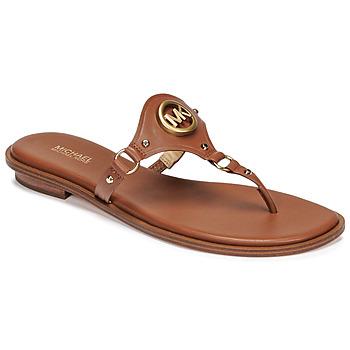 Schuhe Damen Zehensandalen MICHAEL Michael Kors CONWAY SANDAL Cognac
