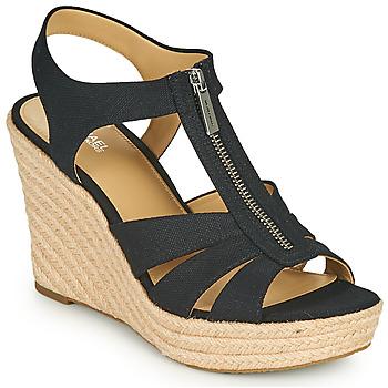 Schuhe Damen Sandalen / Sandaletten MICHAEL Michael Kors BERKLEY WEDGE Schwarz