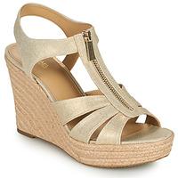 Schuhe Damen Sandalen / Sandaletten MICHAEL Michael Kors BERKLEY WEDGE Gold