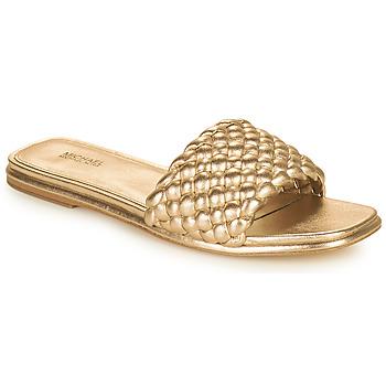 Schuhe Damen Pantoffel MICHAEL Michael Kors AMELIA FLAT SANDAL Gold