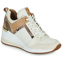 Schuhe Damen Sneaker Low MICHAEL Michael Kors GEORGIE TRAINER Beige