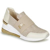 Schuhe Damen Sneaker Low MICHAEL Michael Kors FELIX TRAINER EXTREME Champagne