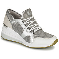 Schuhe Damen Sneaker Low MICHAEL Michael Kors LIV TRAINER Silbern